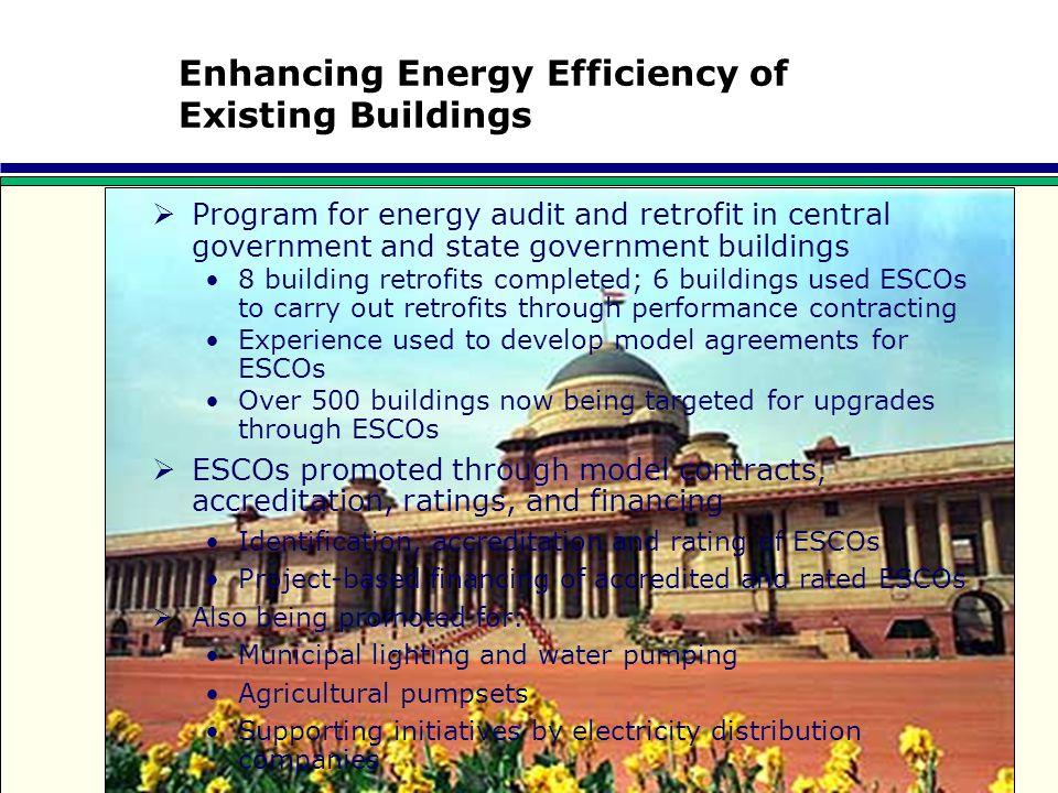 Enhancing Energy Efficiency of Existing Buildings