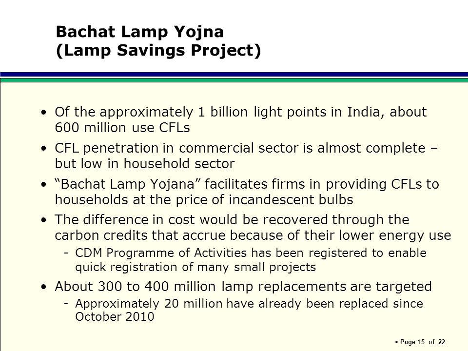 Bachat Lamp Yojna (Lamp Savings Project)