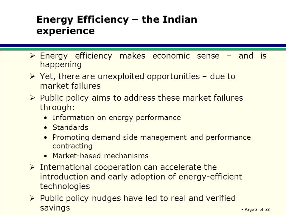 Energy Efficiency – the Indian experience