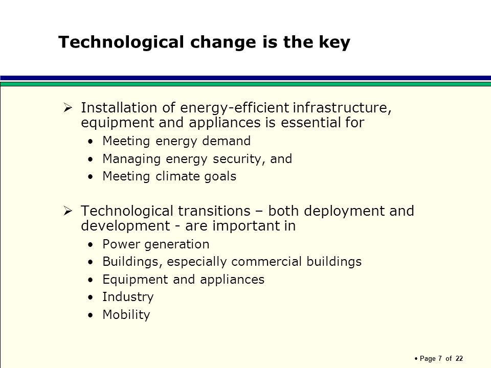 Technological change is the key