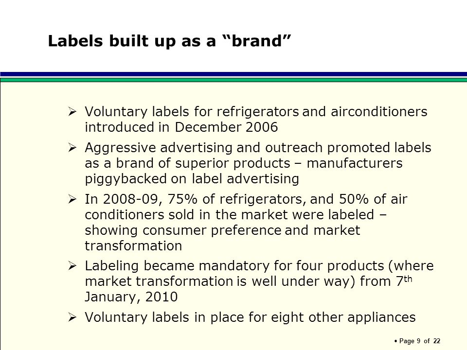 Labels built up as a brand