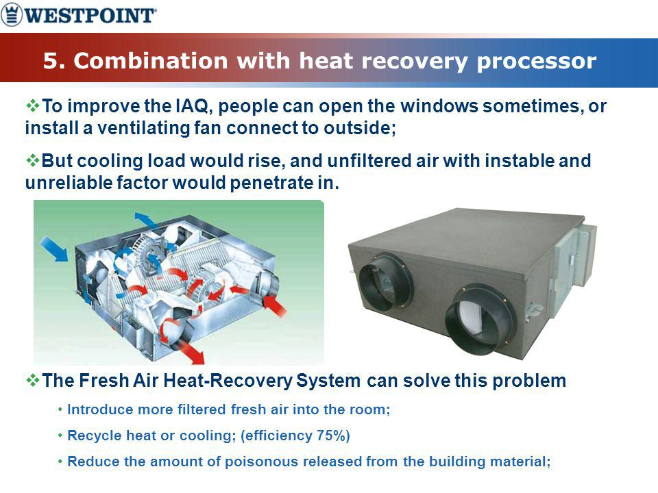 5. Combination with heat recovery processor