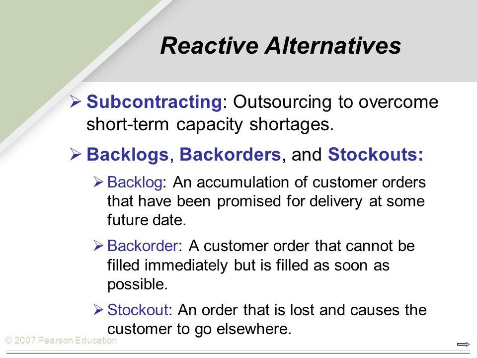 Reactive Alternatives