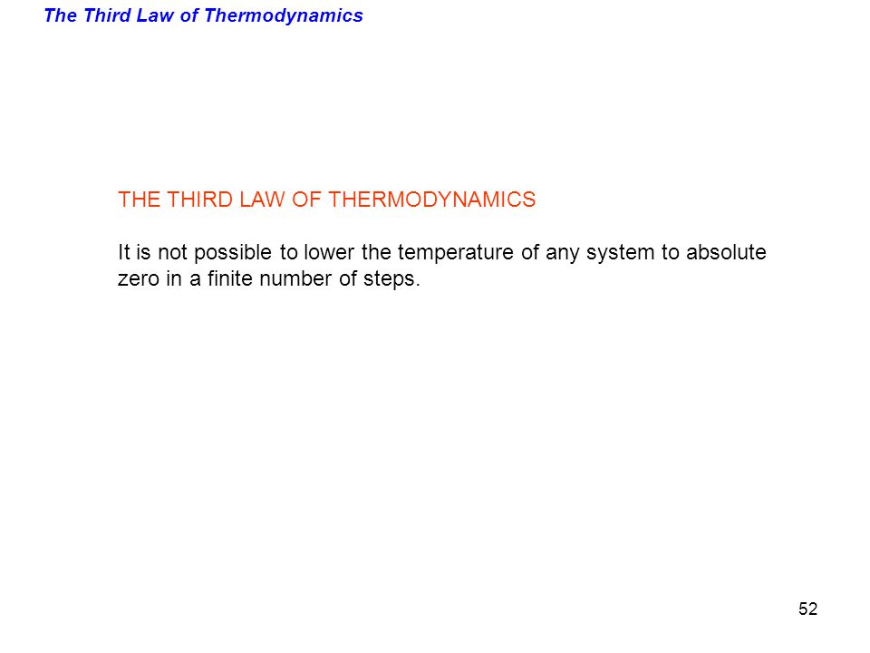The Third Law of Thermodynamics