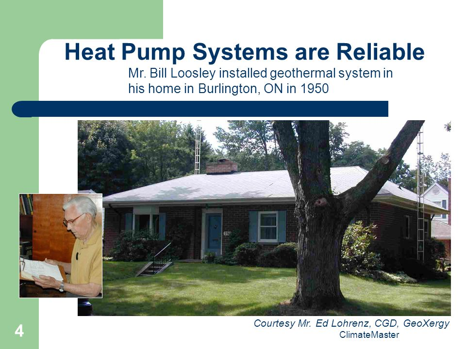 Heat Pump Systems Are Reliable
