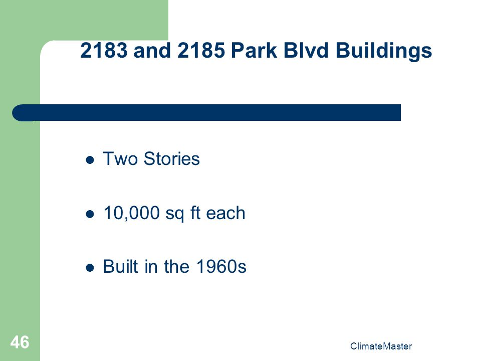 2183 and 2185 Park Blvd Buildings