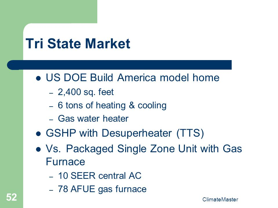 Tri State Market US DOE Build America model home