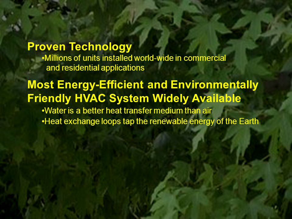 Most Energy-Efficient and Environmentally