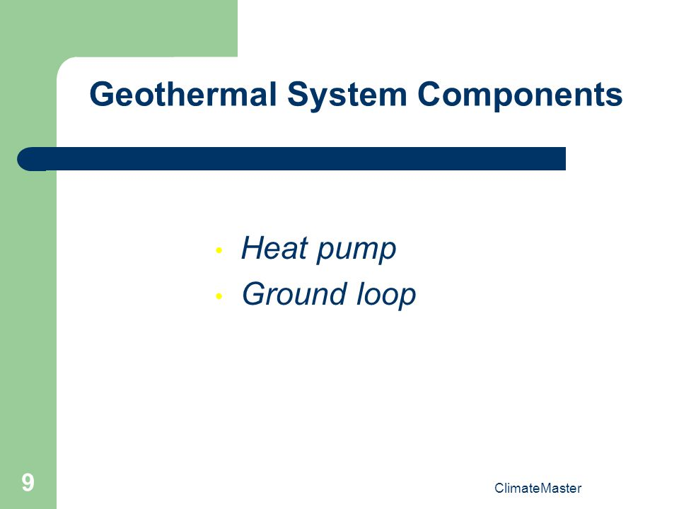 Geothermal System Components