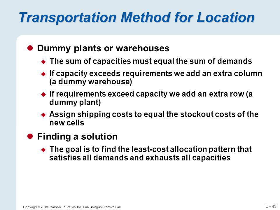 Transportation Method for Location