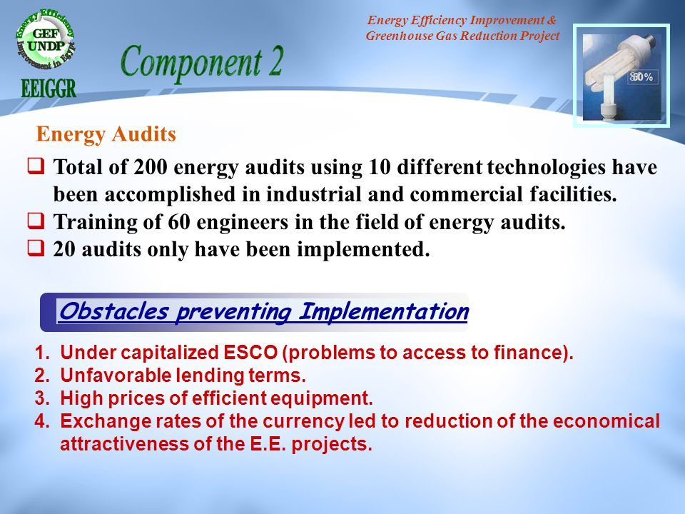 Energy Efficiency Improvement & Greenhouse Gas Reduction Project