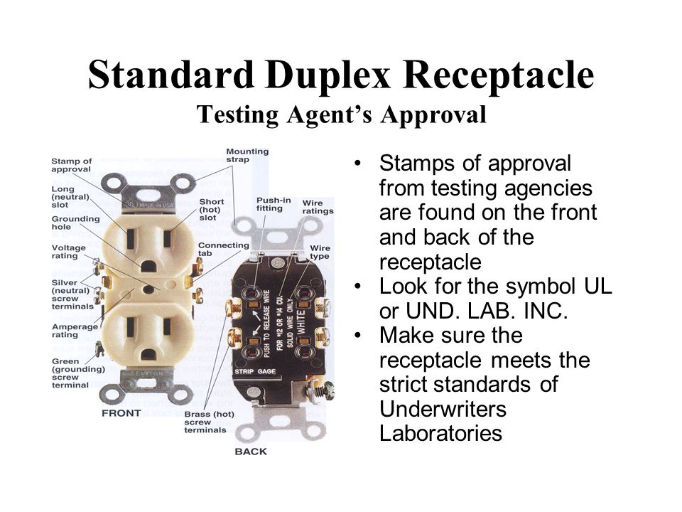Standard Duplex Receptacle Testing Agent's Approval