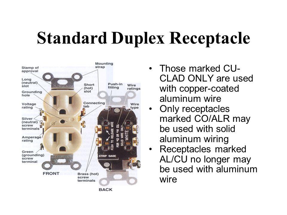 electrical receptacles ppt video online download. Black Bedroom Furniture Sets. Home Design Ideas