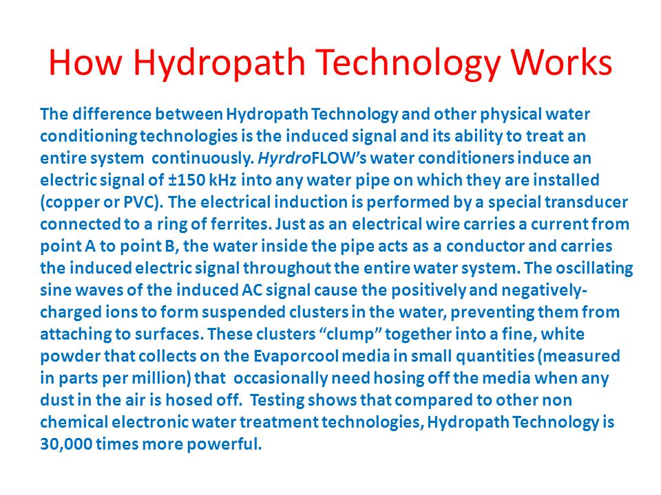 How Hydropath Technology Works
