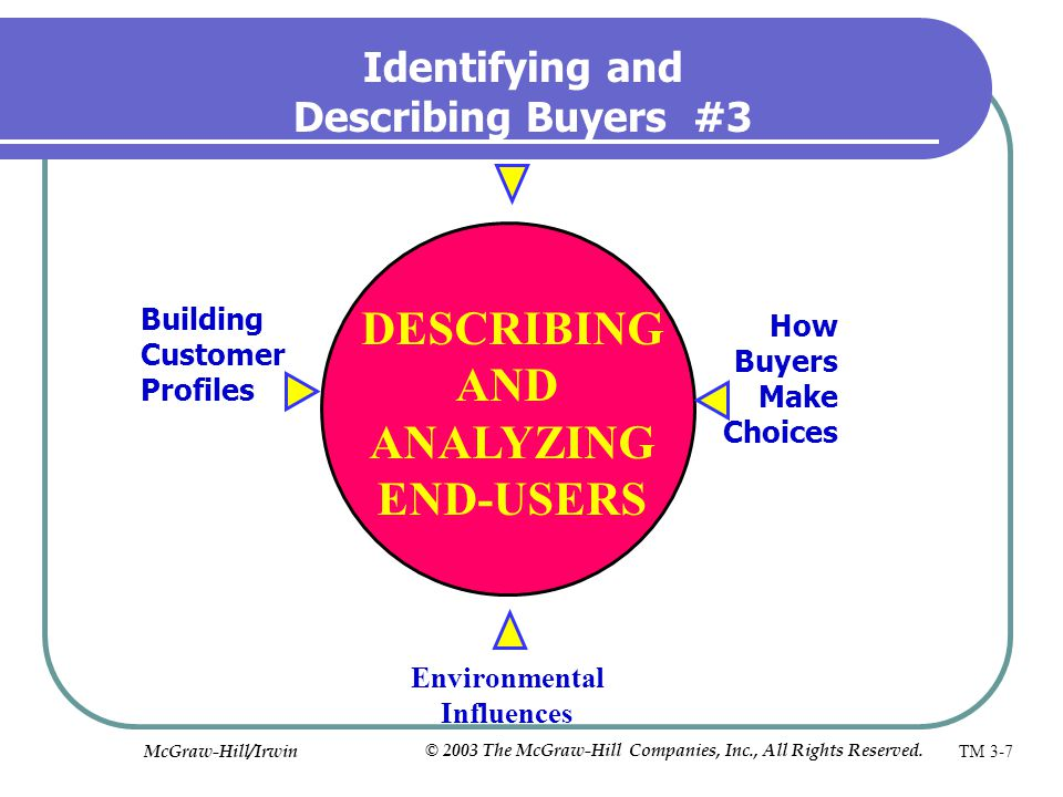 DESCRIBING AND ANALYZING END-USERS
