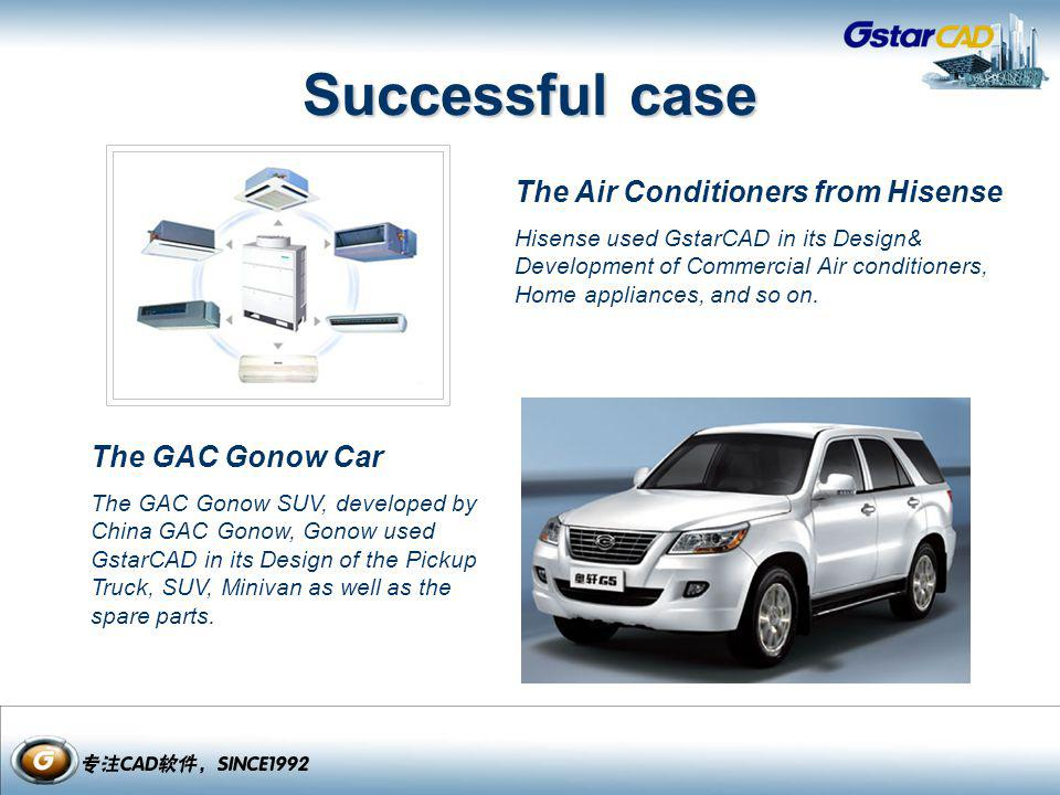Successful case The Air Conditioners from Hisense The GAC Gonow Car