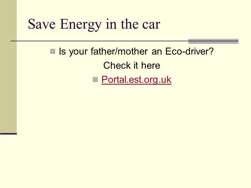 Is your father/mother an Eco-driver