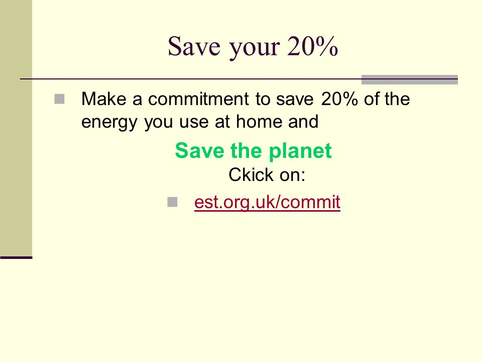 Save the planet Ckick on: