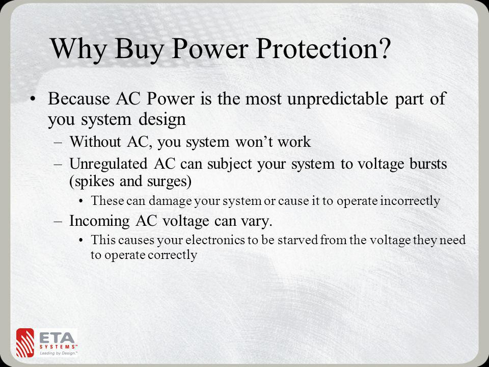 Why Buy Power Protection