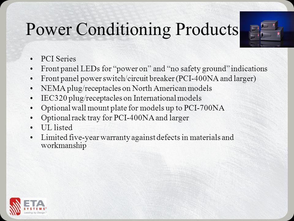 Power Conditioning Products