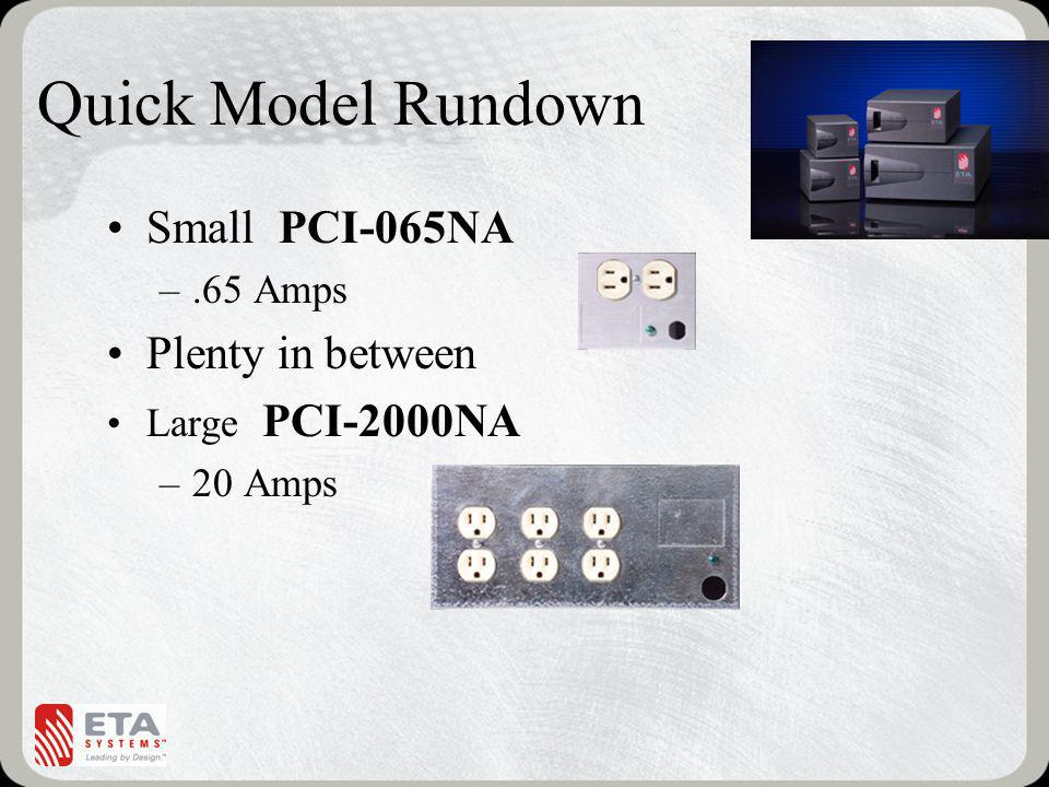 Quick Model Rundown Small PCI-065NA Plenty in between .65 Amps