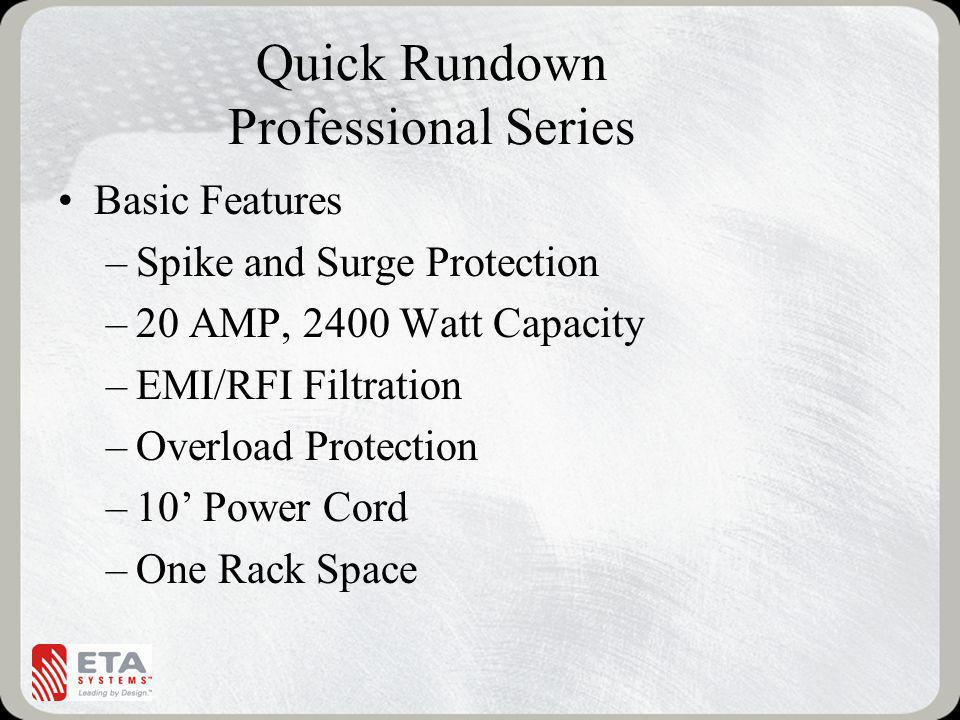 Quick Rundown Professional Series