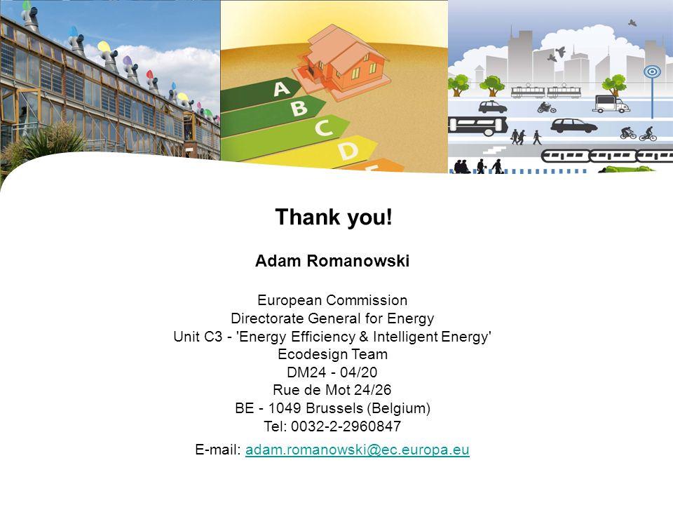  Thank you! Adam Romanowski