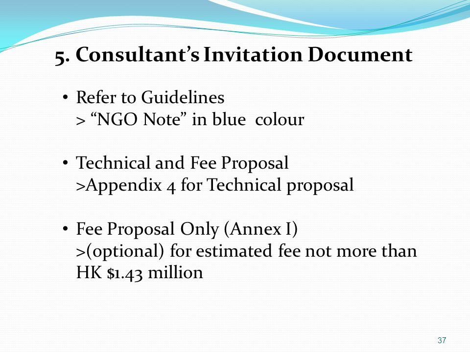 5. Consultant's Invitation Document
