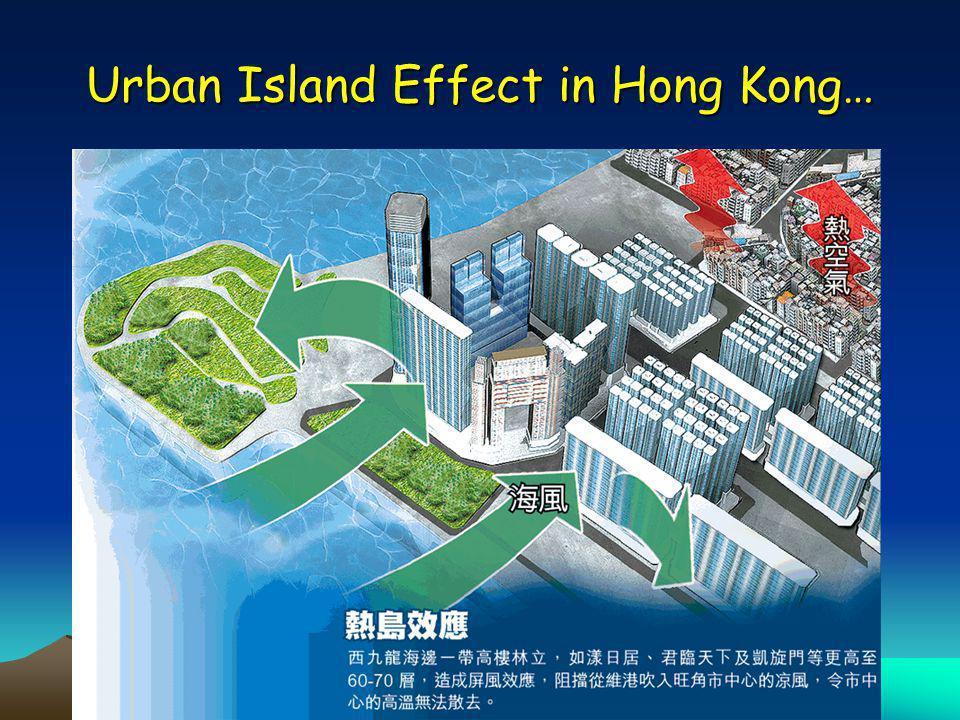Urban Island Effect in Hong Kong…