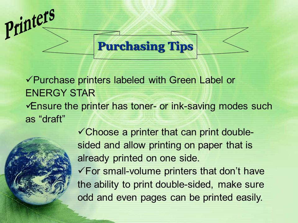 Printers Purchasing Tips