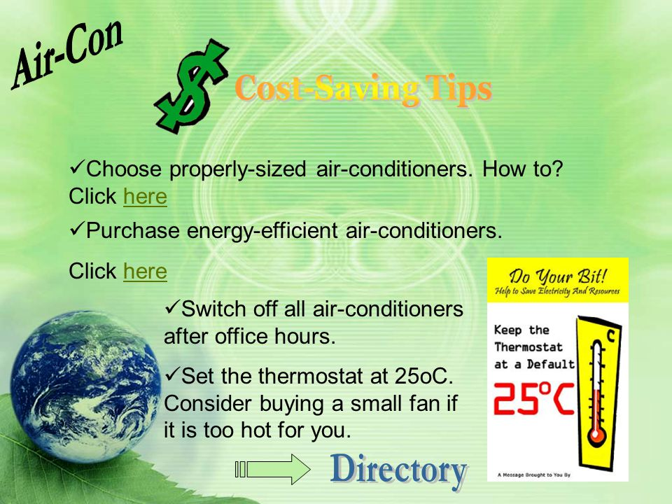 Air-Con Directory Cost-Saving Tips