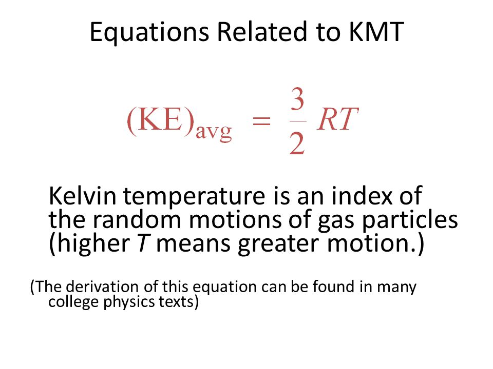 Equations Related to KMT