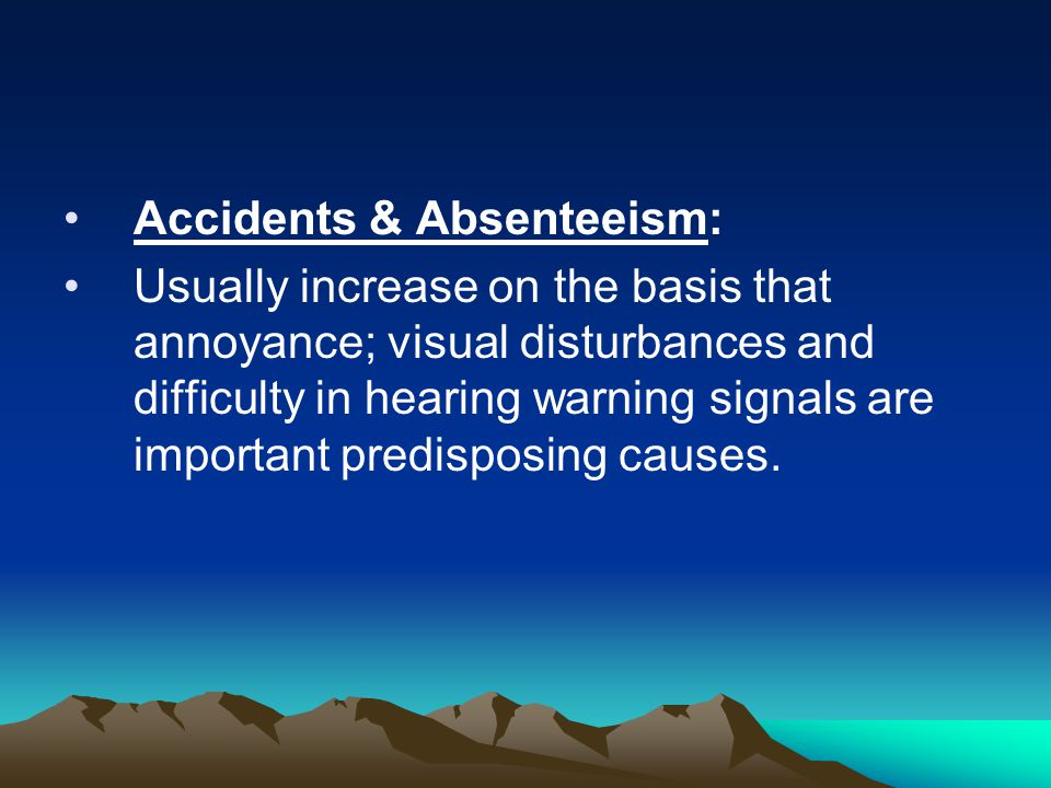 Accidents & Absenteeism: