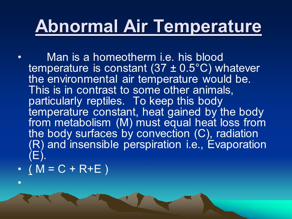 Abnormal Air Temperature