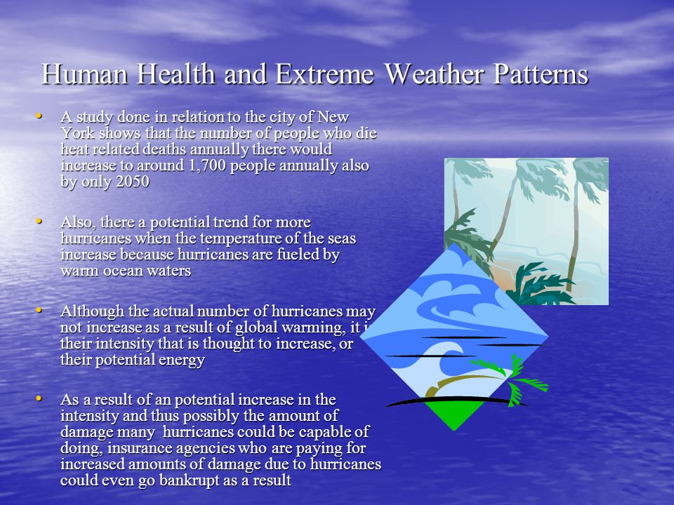 Human Health and Extreme Weather Patterns