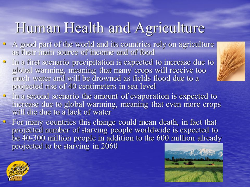 Human Health and Agriculture
