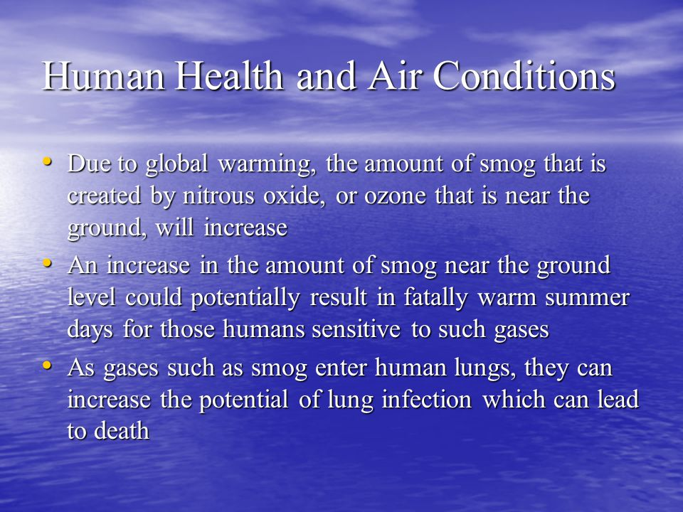 Human Health and Air Conditions