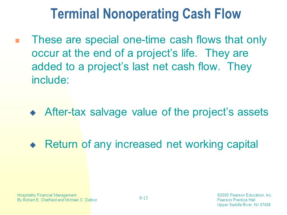 Terminal Nonoperating Cash Flow