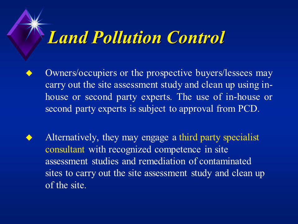 Land Pollution Control