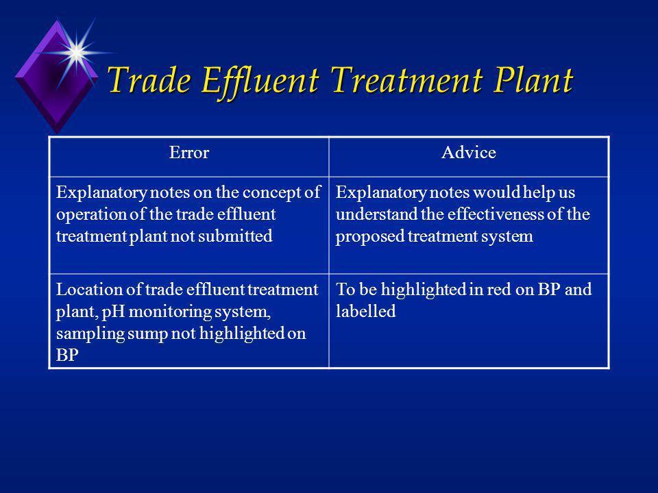 Trade Effluent Treatment Plant