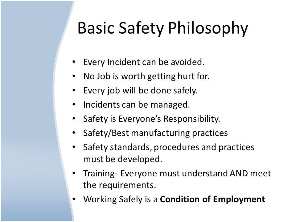 Basic Safety Philosophy