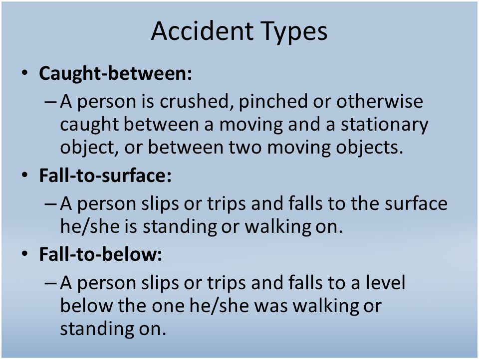 Accident Types Caught-between: