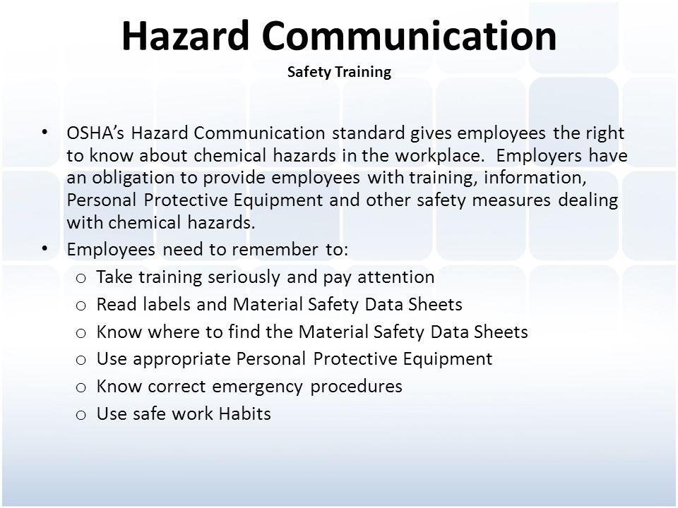 Hazard Communication Safety Training