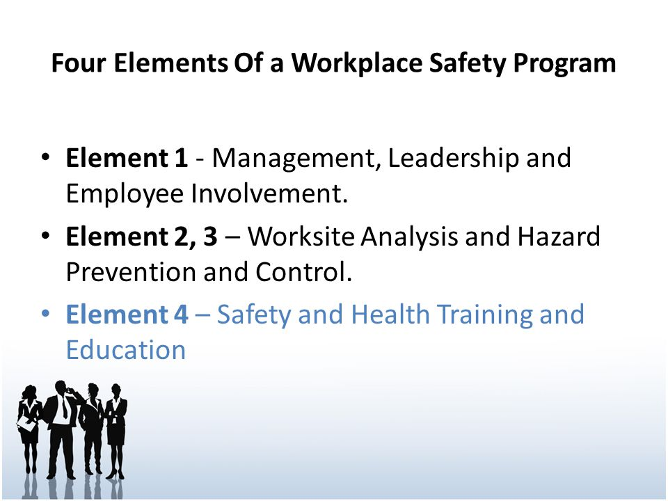 Four Elements Of a Workplace Safety Program