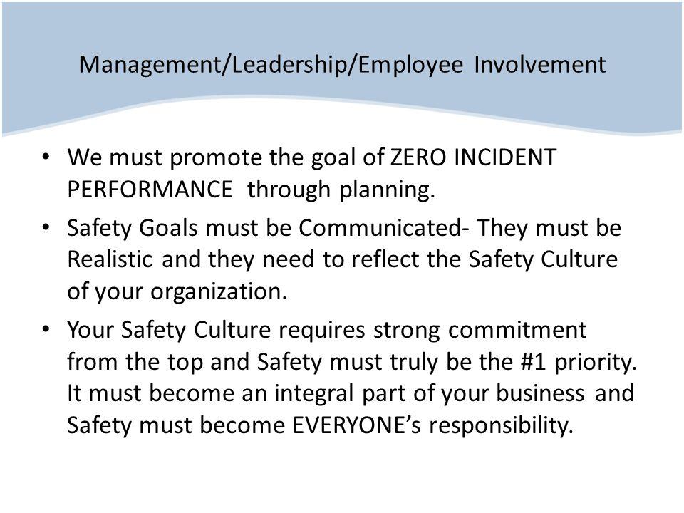 Management/Leadership/Employee Involvement