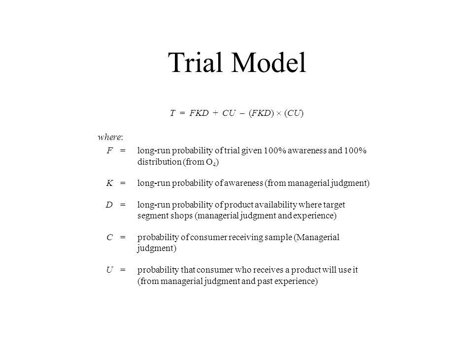 Trial Model T = FKD + CU – (FKD) ´ (CU) where: