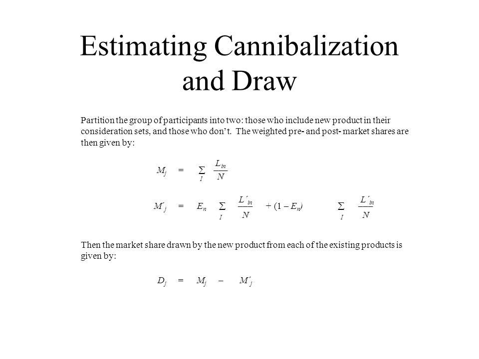 Estimating Cannibalization and Draw