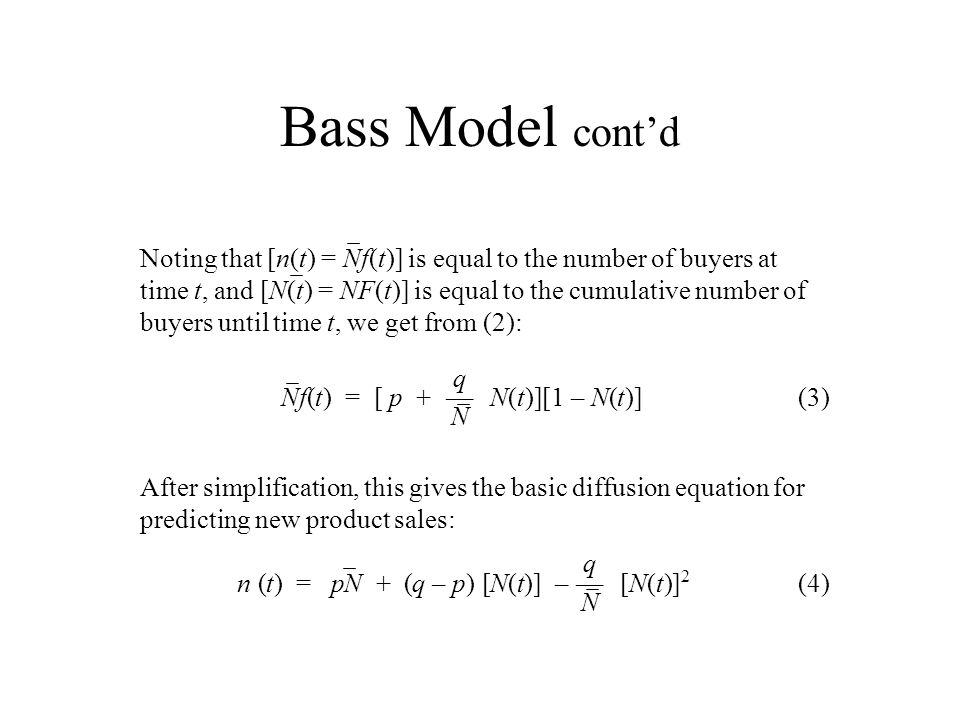 Bass Model cont'd