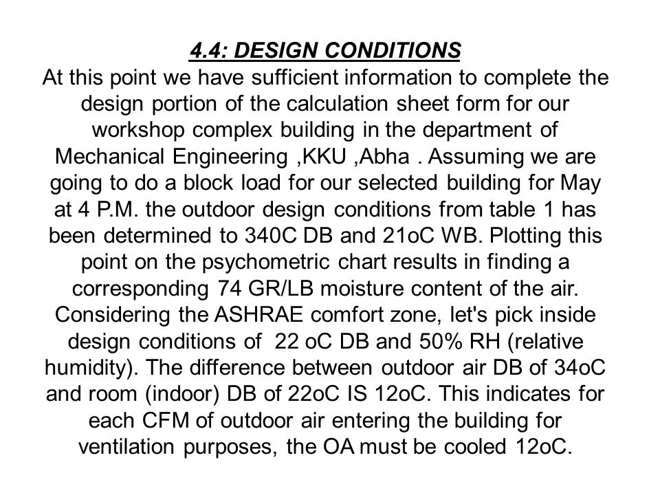 Abstract the increasing demand for comfort air for Indoor design conditions ashrae