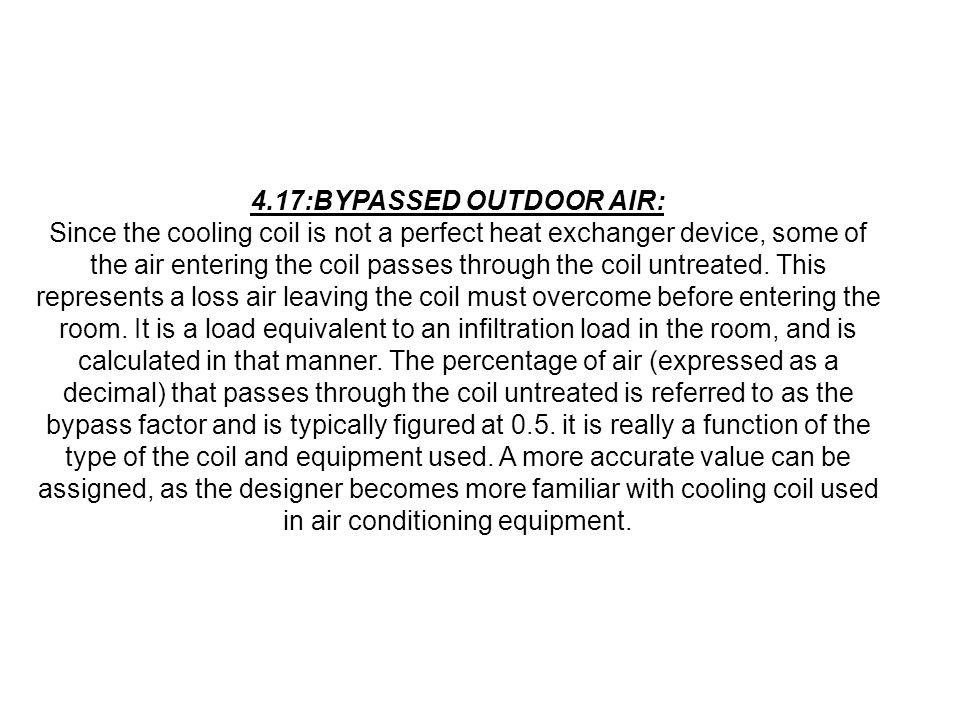 4.17:BYPASSED OUTDOOR AIR: